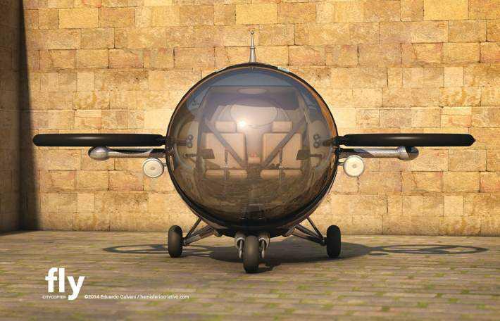 Citycopter4 Mais um carro voador bizarro