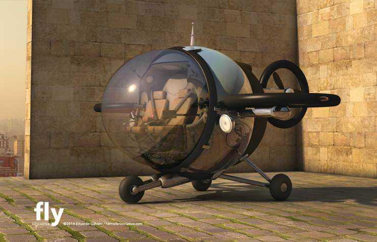 Citycopter8 Mais um carro voador bizarro