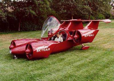 Red Plane car1203379866 Mais um carro voador bizarro