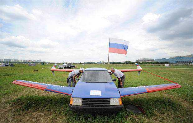 car plane 1940179i Mais um carro voador bizarro