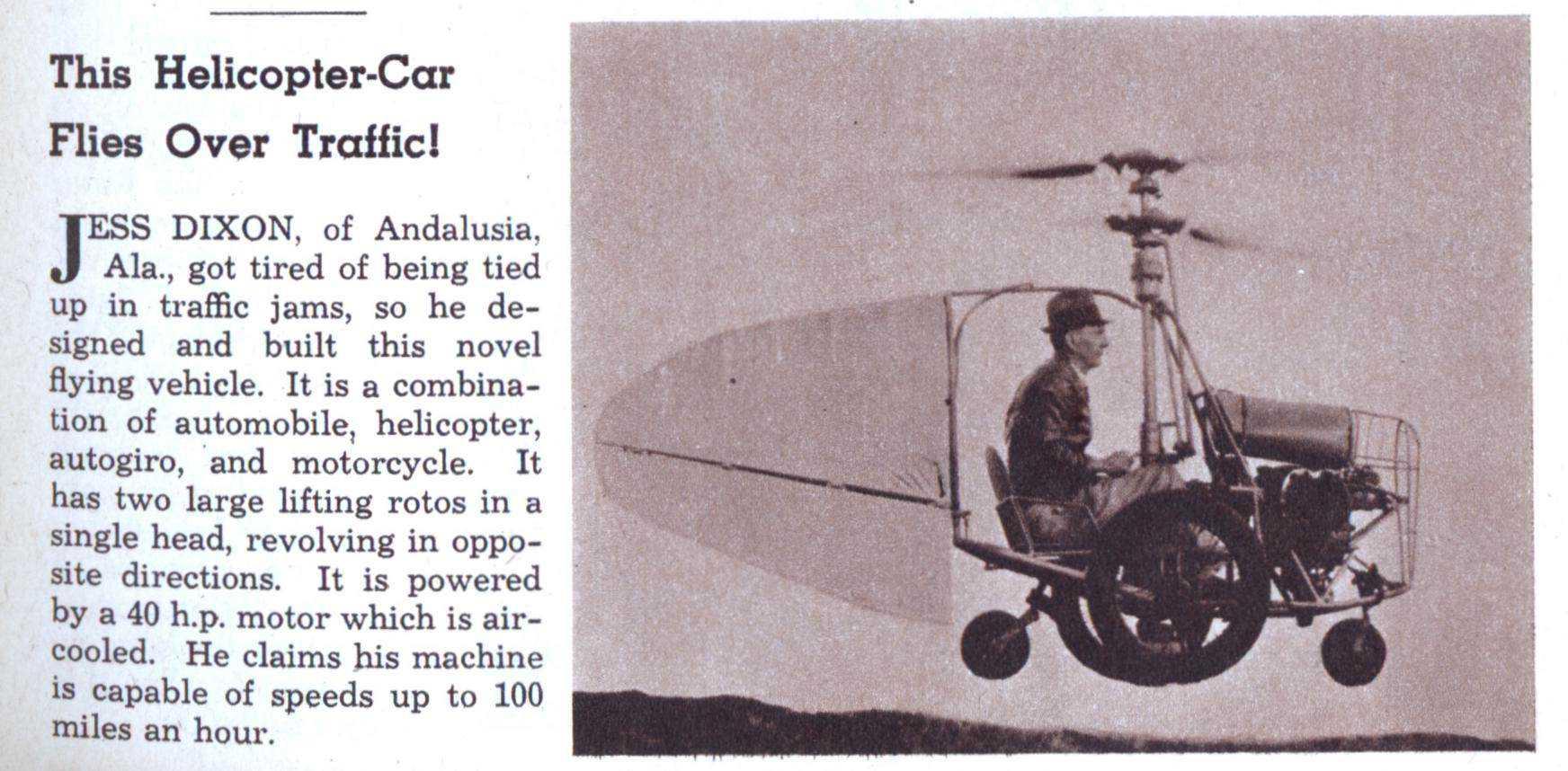 helicopter car Mais um carro voador bizarro