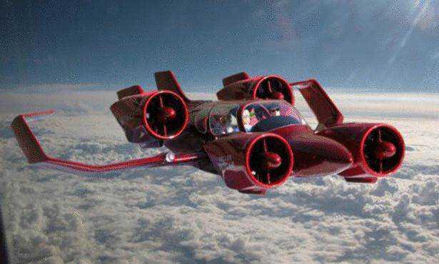 large Mais um carro voador bizarro