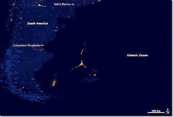 Mysterious Lights Argentina Atlantic Ocean Pontos verdes misteriosos nas imagens de satélite: O que é isso?