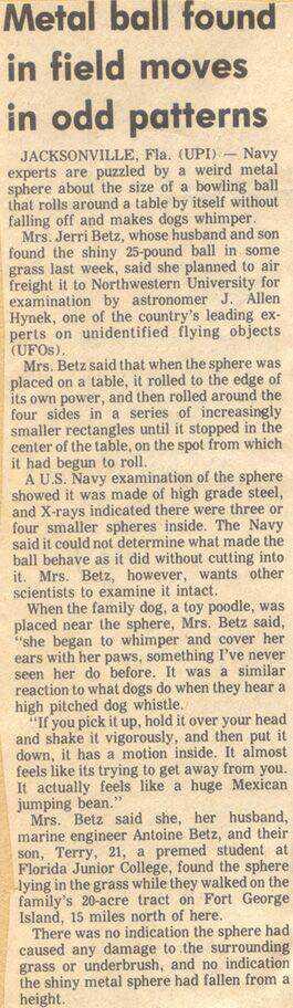 MysteryBallNewsPaperClip2 O mistério da esfera dos Betz