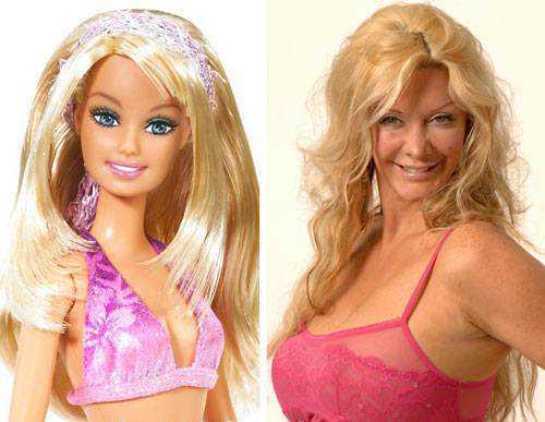 barbie sarah burge e1418994889268 Cirurgia plástica: Top 10 mudanças faciais bizarras