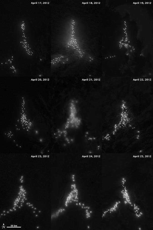 nasa lights 2 web Pontos verdes misteriosos nas imagens de satélite: O que é isso?