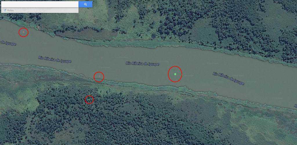 pontosnorio 1024x500 Pontos verdes misteriosos nas imagens de satélite: O que é isso?