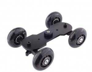 Compact Desktop Camera Dolly Tracker Roller Video Slider dolly Car for dslr Camera Professional Monitor DV 300x235 Como fazer um carrinho para dolly em mesa