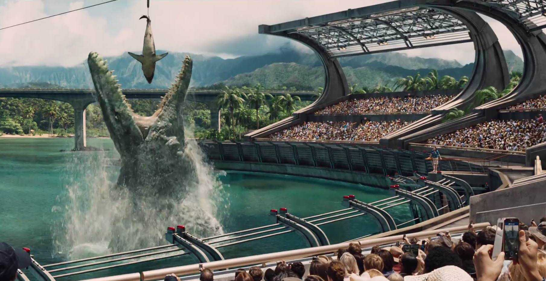 Mosasaur Feeding Show Crocodilo gigante