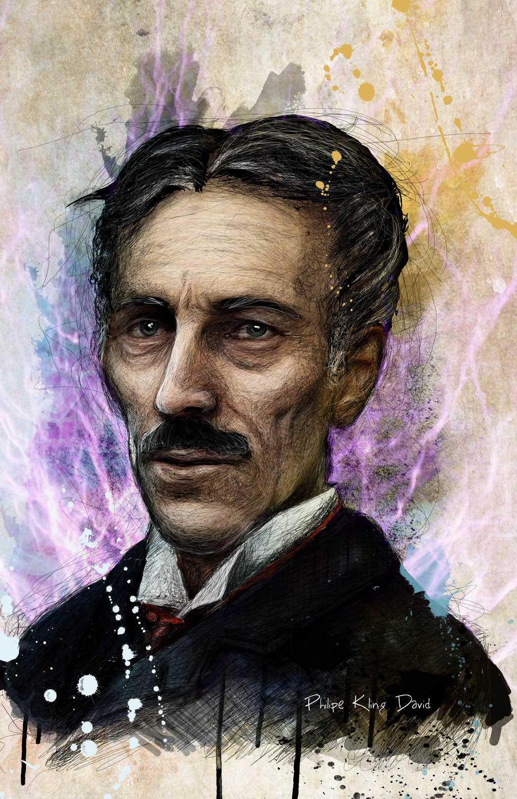 tesla2 low Mais um desenho: Nikola Tesla
