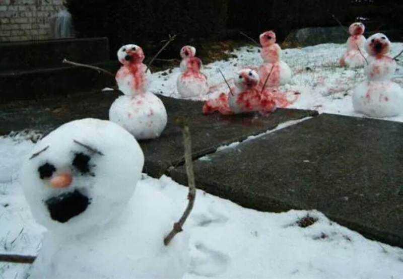 0bf7afe87f0507a745f07eb054ab25ca Os mais bizarros bonecos de neve do mundo
