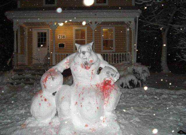 3c5fc43b49ec71351531c3c160c0cddd Os mais bizarros bonecos de neve do mundo
