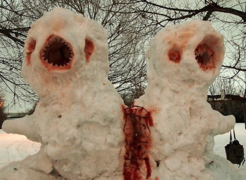 a846bfaf9c9c652bb9f72b3329429de9 Os mais bizarros bonecos de neve do mundo