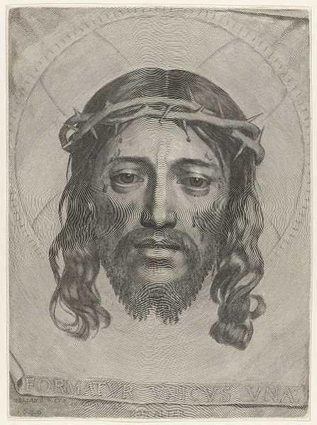 447px Claude Mellan   Face of Christ   WGA14764 Desenho de Jesus feito com uma única linha