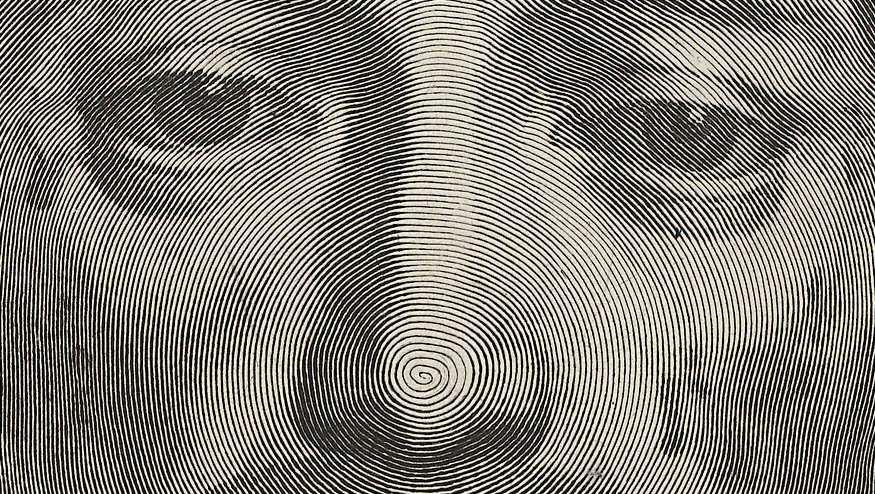 Detail Desenho de Jesus feito com uma única linha