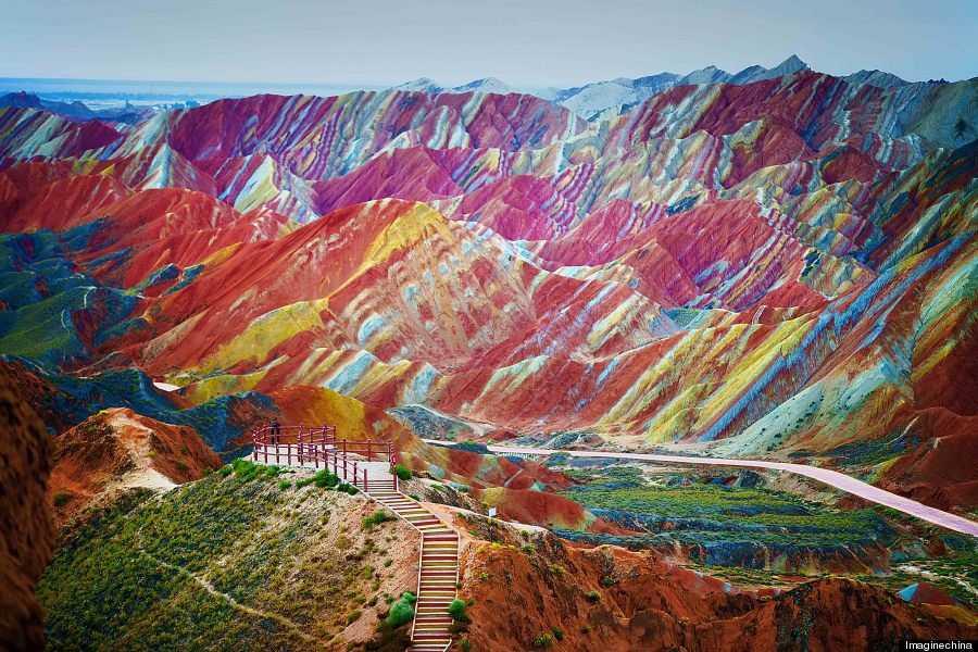 o RAINBOW MOUNTAINS 900 4 Montanhas arco íris