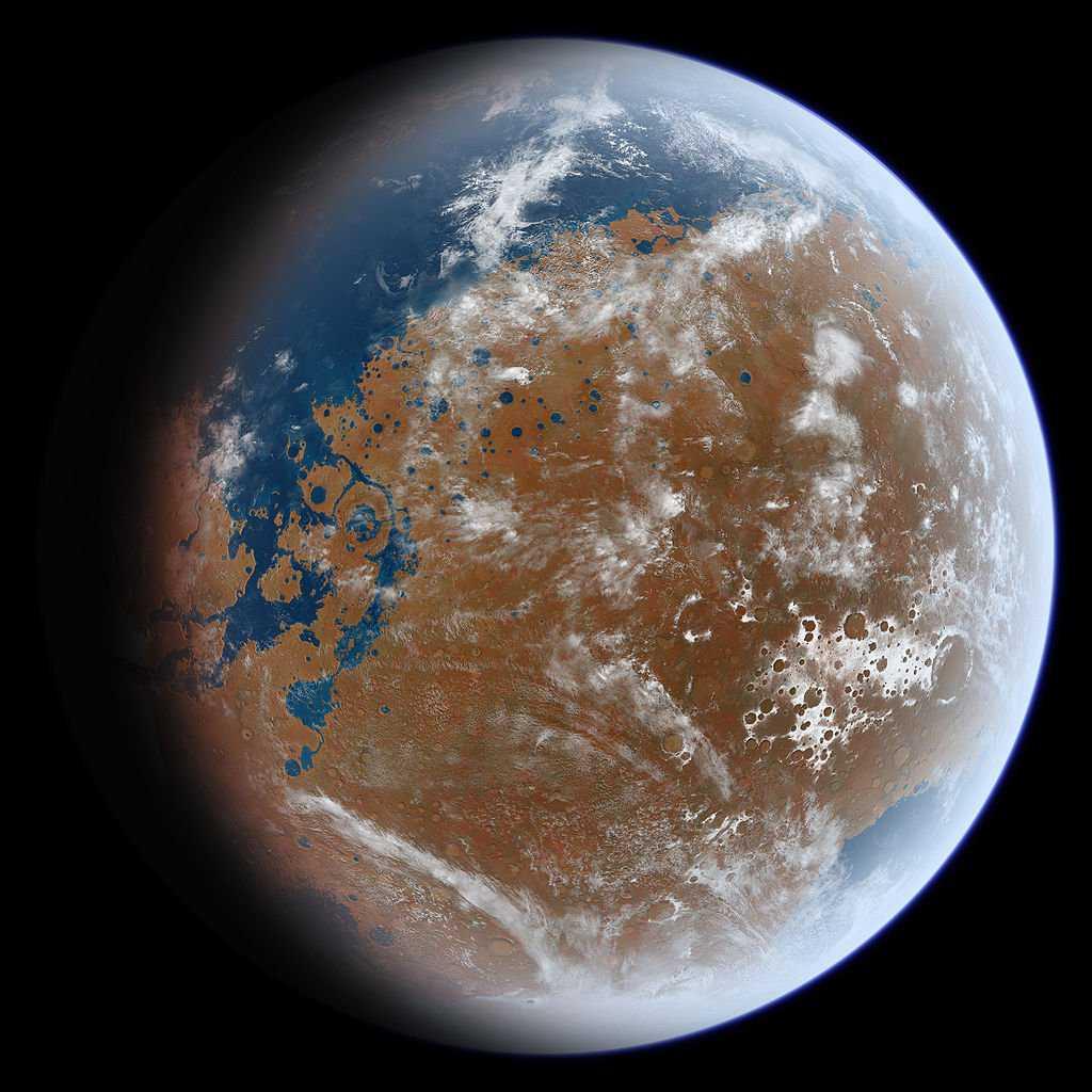 1024px AncientMars Criatura flagrada pela NASA?! Será que há vida em Marte mesmo?