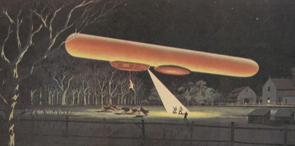 cigar ufo A vaca abduzida por um ufo?