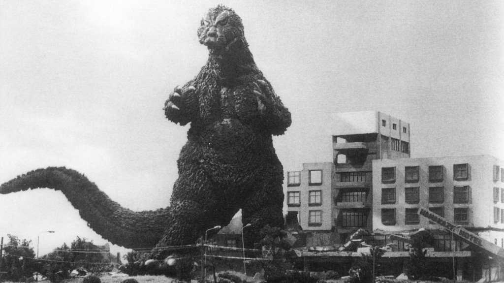 """Critic John Powers writes, """"There's an amoral pleasure to be had in watching Godzilla reduce Tokyo to fiery rubble."""""""