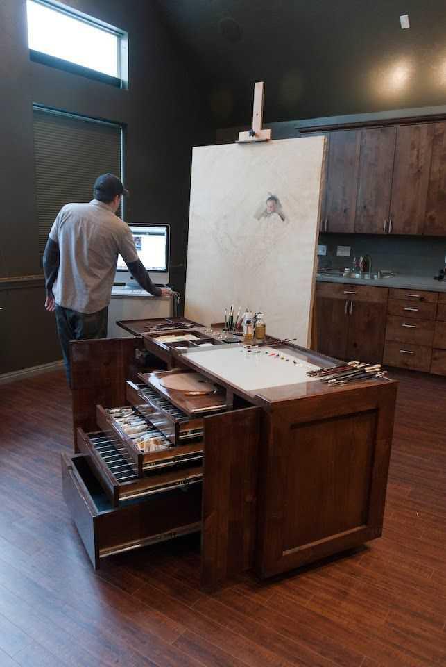 057492e49987243013bd01eb26bb61ca Incríveis espaços de trabalho para artistas