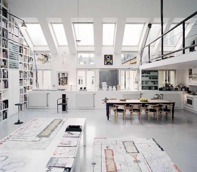 10 White Incríveis espaços de trabalho para artistas