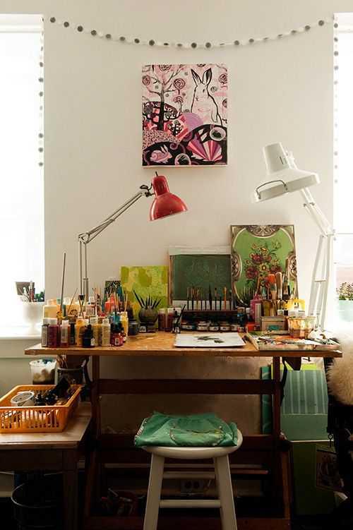 12a1d0754f4401f6e4eb58b705377201 Incríveis espaços de trabalho para artistas