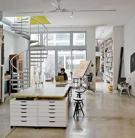 589ca7ad53e9264ec51306a6ed2836e5 Incríveis espaços de trabalho para artistas