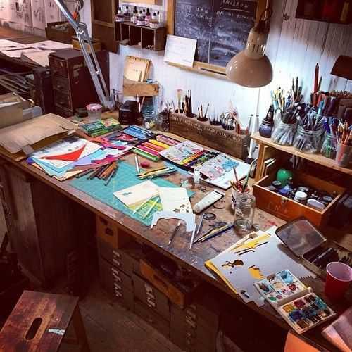 6b9401326b506c7e9182a4e6b16d90c7 Incríveis espaços de trabalho para artistas