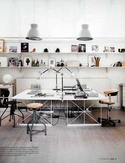 6f3f2b5e73d0f9d2bcb6ca2f0b83a169 Incríveis espaços de trabalho para artistas