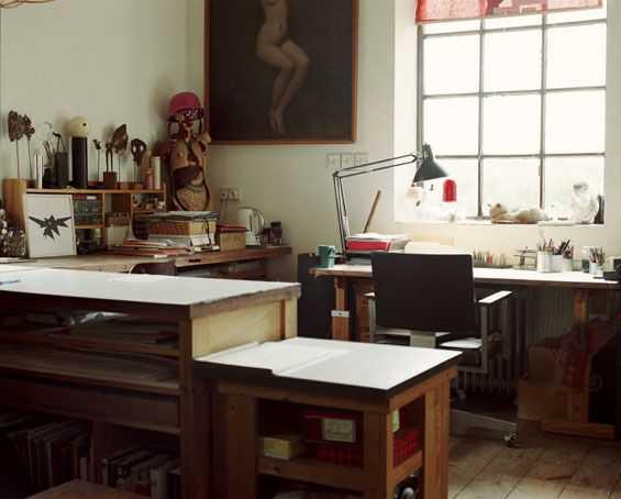 7f93c9fa6e293aaaf244072a6a5251ad Incríveis espaços de trabalho para artistas