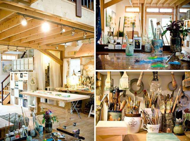9 Barn Incríveis espaços de trabalho para artistas