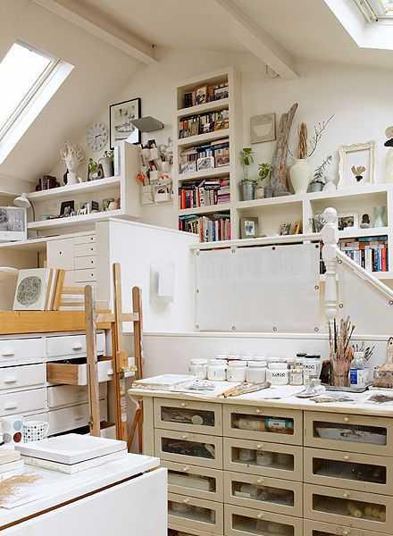 a44804a5a721d50fef1f4ad8f89915ae Incríveis espaços de trabalho para artistas