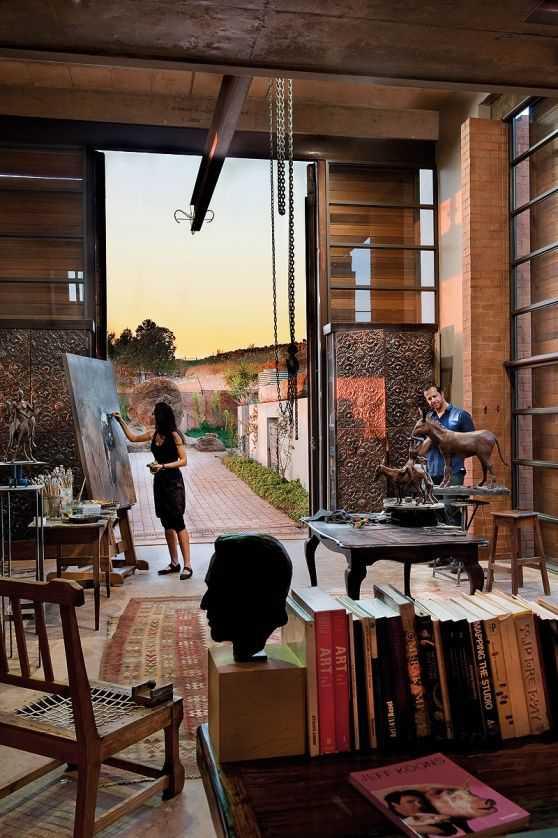 a5521b1c0acb3d604f67ef805cde88c1 Incríveis espaços de trabalho para artistas