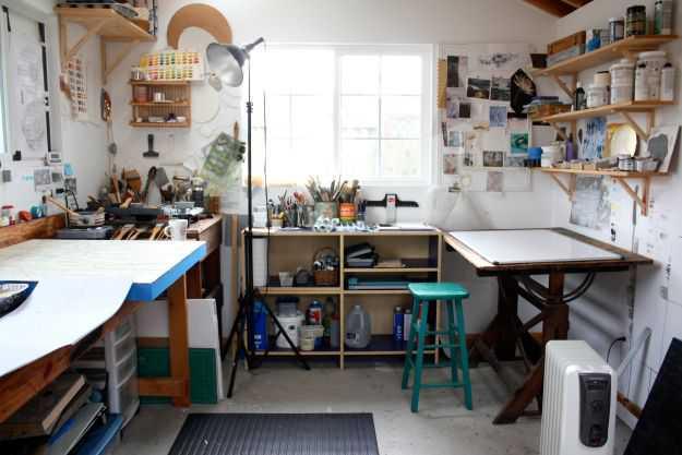 b30c1c89e183368b50c9a62a478f7460 Incríveis espaços de trabalho para artistas