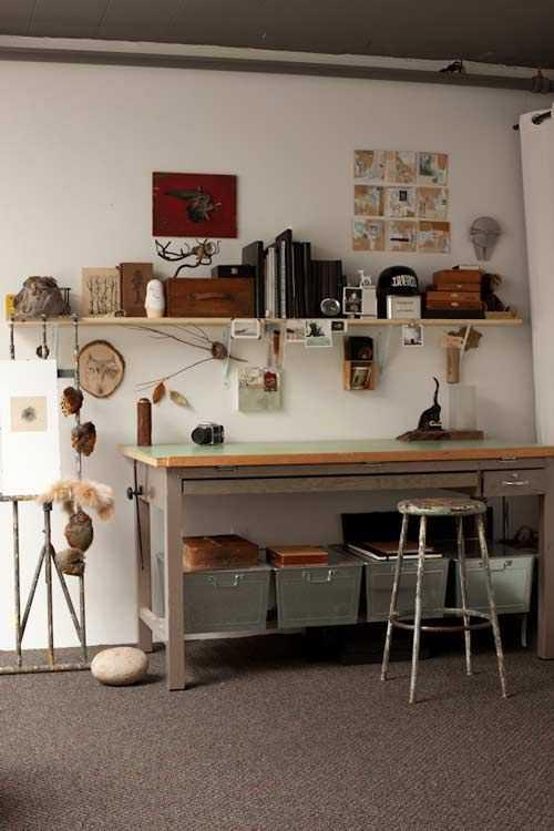 b4f8325f988e94df901e30f33d75f33e Incríveis espaços de trabalho para artistas