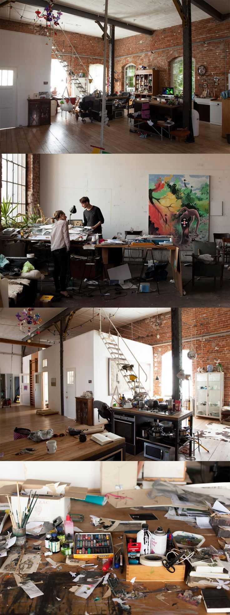 c1aeebecbe290bc3c8fc951bf3991308 Incríveis espaços de trabalho para artistas