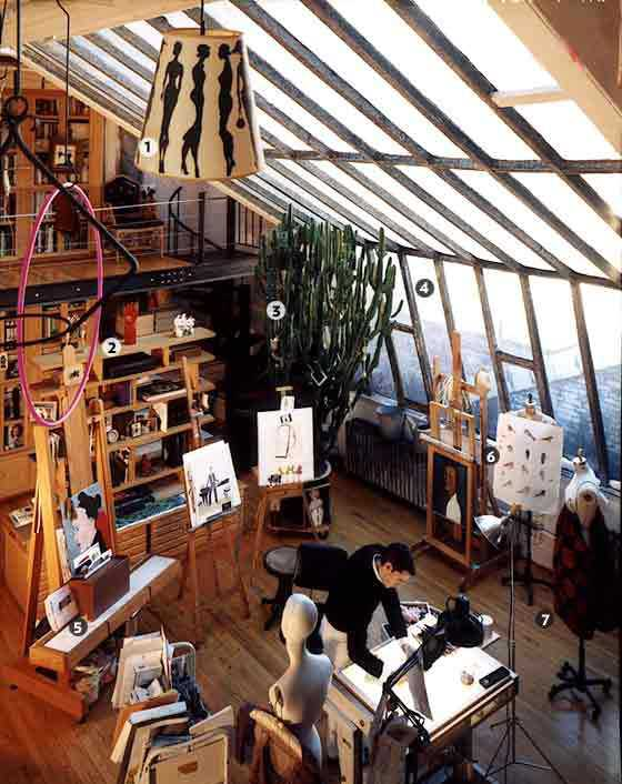 c241a12ccdb1a12ee11a6d25a6d392b9 Incríveis espaços de trabalho para artistas