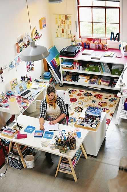 c97189cb986db289b97d802472607c00 Incríveis espaços de trabalho para artistas