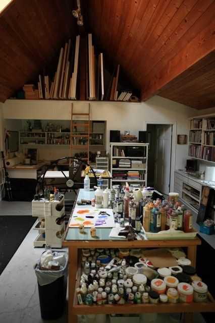 d8980f0990e1101356f58a593c8beed1 Incríveis espaços de trabalho para artistas