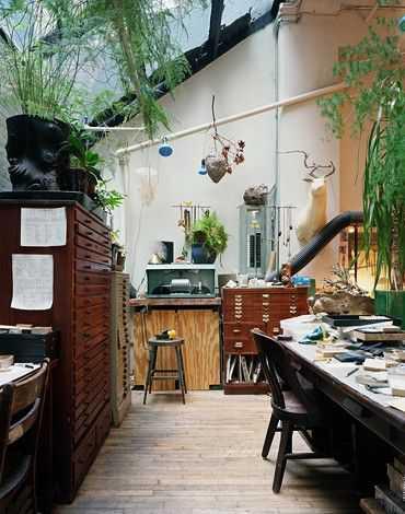 de852a2baa204c7a6e8159f8d2f88146 Incríveis espaços de trabalho para artistas