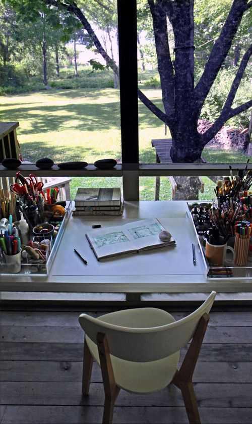 e0b3e1b7f19b7af63055f789561f4066 Incríveis espaços de trabalho para artistas