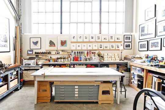 e1c80b04c3c114dbb1aa380b5866ca70 Incríveis espaços de trabalho para artistas