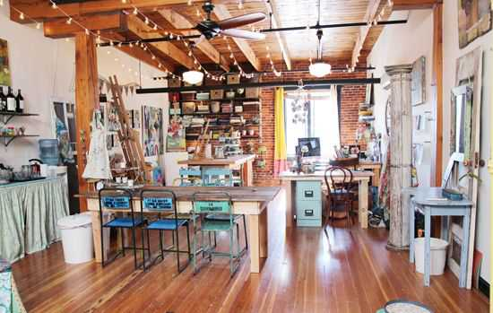 e8d7bb0ffe7b900829d539b992599524 Incríveis espaços de trabalho para artistas