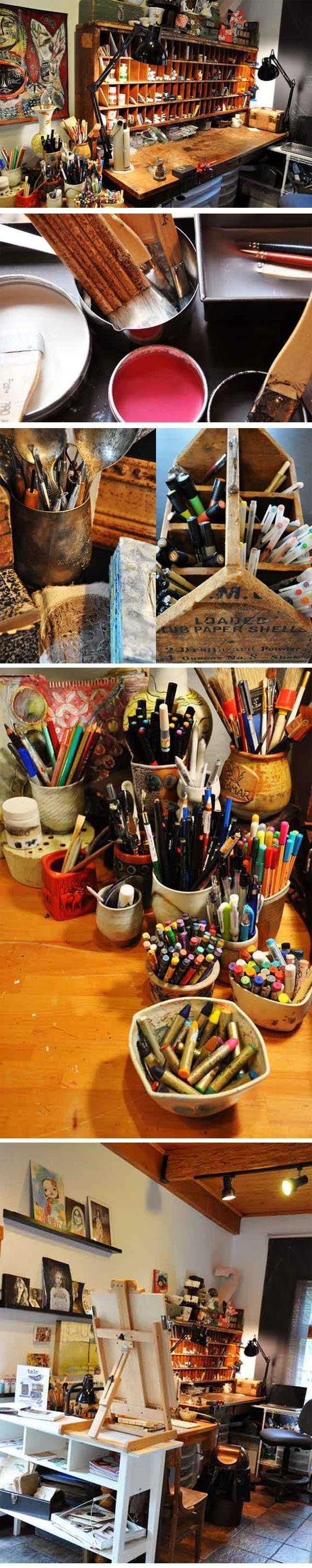 f78357407b9e94689370c0e919ea557d Incríveis espaços de trabalho para artistas