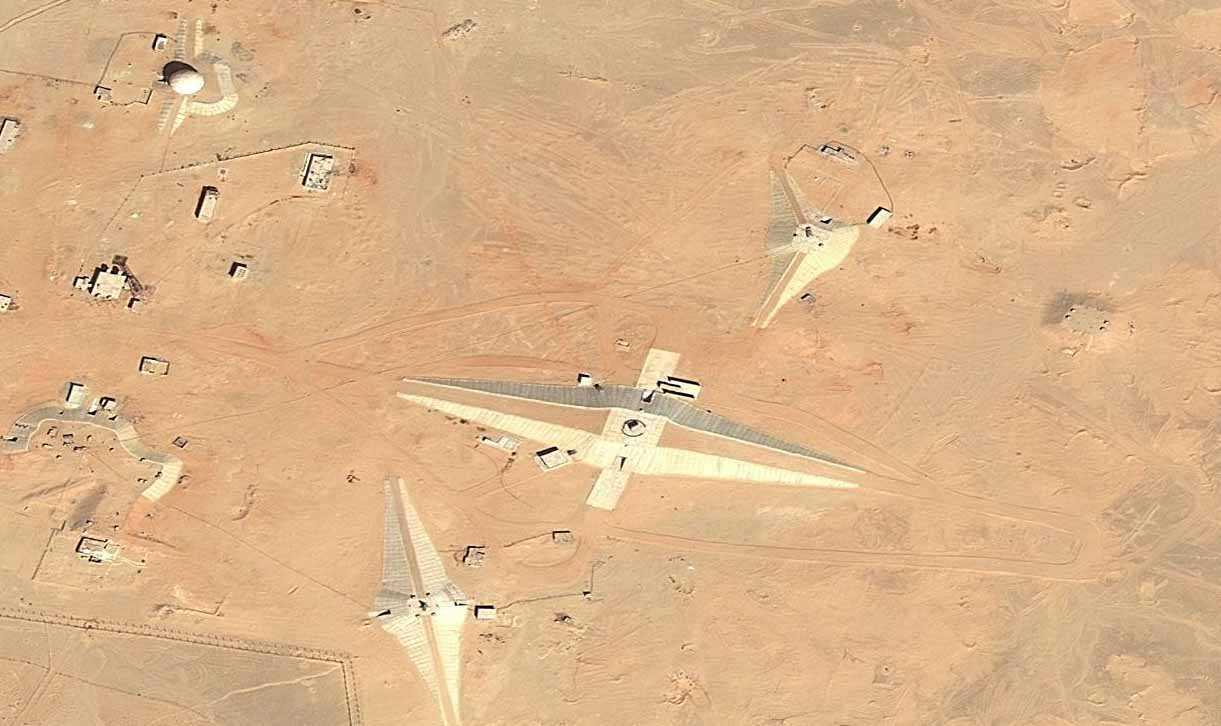 preparando Bases alienígenas? Estruturas misteriosas do deserto