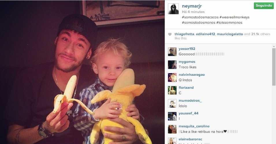 neymar posta foto segurando uma banana 1398638018753 956x500 Somos todos otários