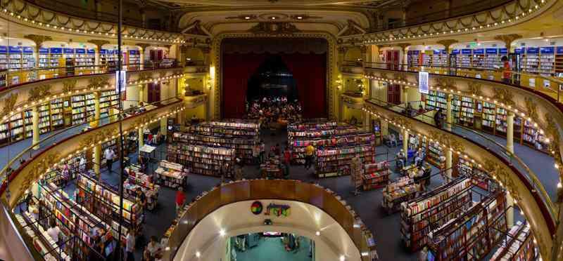 Argentina BuenosAiresAteneoGranSplendidPanoramica A livraria mais estranha do mundo que só tem 1 livro pra vender