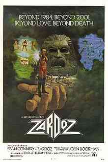 220px Original movie poster for the film Zardoz Top filmes de sobreviventes pós apocalípiticos