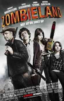Zombieland poster Top filmes de sobreviventes pós apocalípiticos