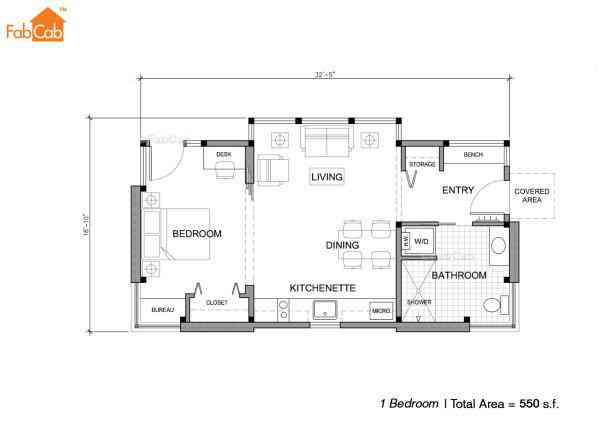 550 plan 600x421 Uma mini casa de madeira barata de construir